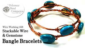 how to make jewelry with gemstones stackable wire gemstone bangle bracelets