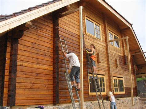 exterior woodwork paint guide to paint log cabin exterior selection preparation