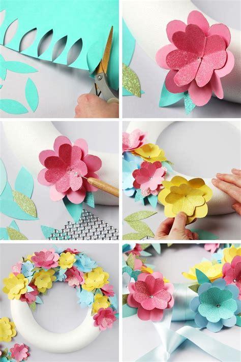 paper flowers craft ideas best 25 paper flower wreaths ideas on flower