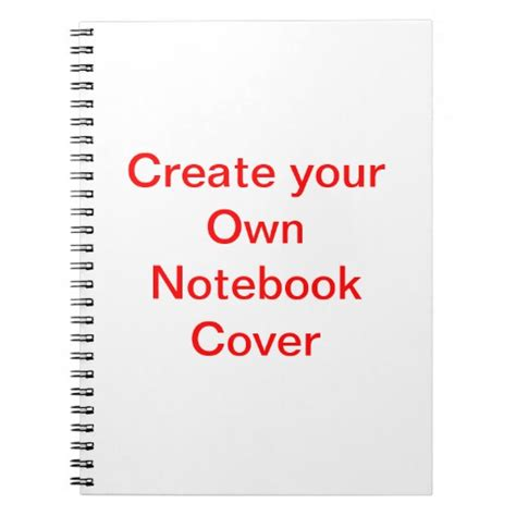 create your own create your own notebook cover zazzle