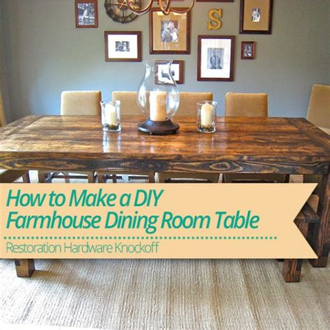 make a dining room table how to make a diy farmhouse dining room table restoration