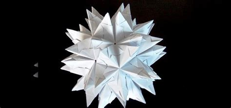 origami spike how to origami a spiked truncated icosahedron 171 origami