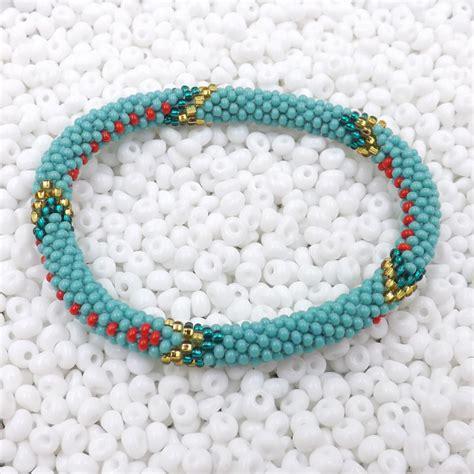 handmade bead bracelets nepal bracelet glass seed bead roll on crochet nepal