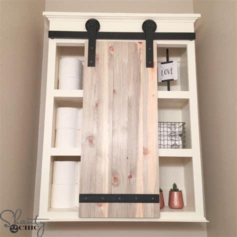 diy cabinet storage diy sliding barn door bathroom cabinet shanty 2 chic