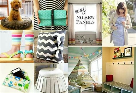 no sew craft projects no sew fabric projects ideas