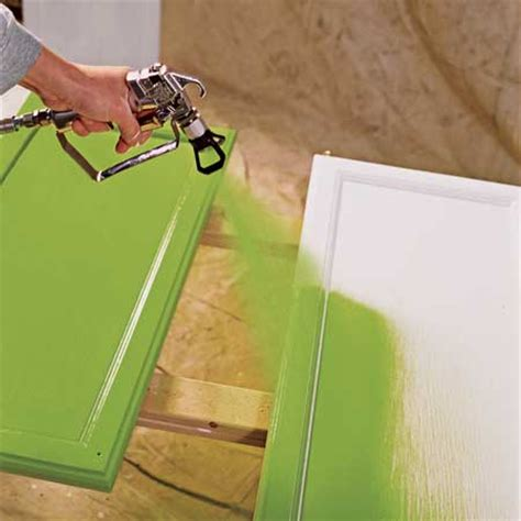 spray painting kitchen cabinets how to paint kitchen cabinet with a sprayer kitchen