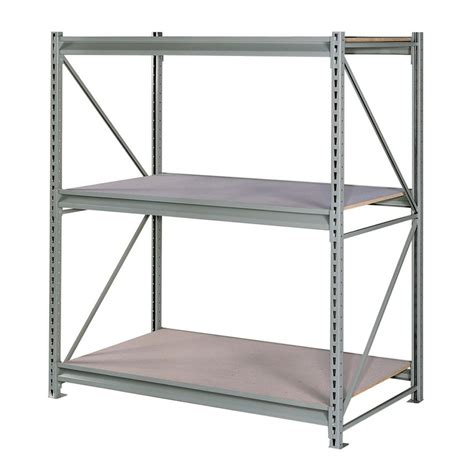 freestanding shelving unit shop edsal 96 in h x 72 in w x 48 in d 3 tier steel