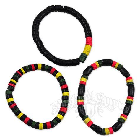 Rasta Wood Bead Bracelet 3 Set Rastaempire