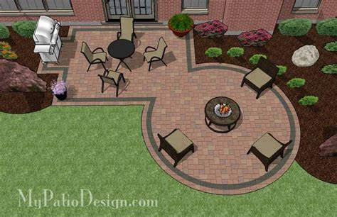 patio pit designs rectangle patio design with circle pit area 395 sq