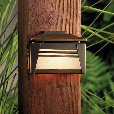 kichler deck lights kichler 15110oz zen garden 12v deck light