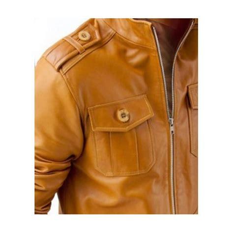 mens light brown leather jacket light brown leather jacket ms