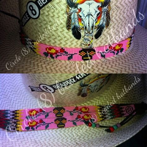beaded hat band patterns beaded hat band circle 8 beaded hatbands quot like us on