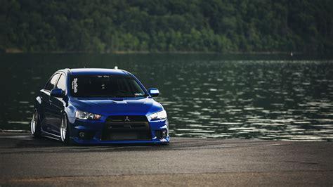 Car Evolution Wallpaper by Blue Mitsubishi Mitsubishi Lancer Evo X Jdm Stance