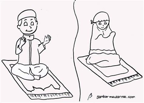 untuk anak image gambar anak berdoa untuk diwarnai mewarnai