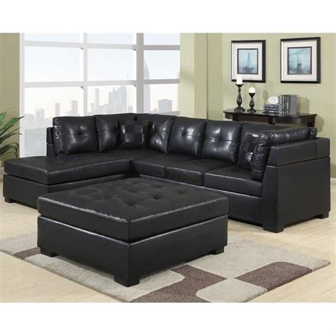 black leather sectional sofa with chaise coaster darie leather sectional sofa with left side chaise