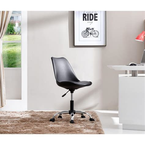 armless swivel desk chair hodedah black armless swivel office desk chair with