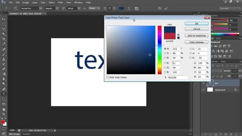 how to color in photoshop how to change text color in photoshop cs6