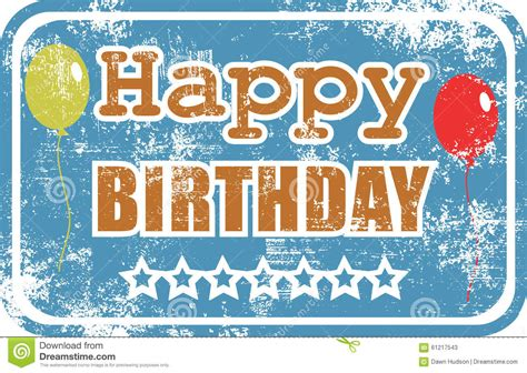 happy birthday rubber st birthday rubber st stock illustration image 61217543