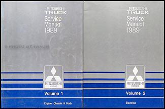 1989 mitsubishi mirage repair shop manual set original 1989 mitsubishi truck repair shop manual set original