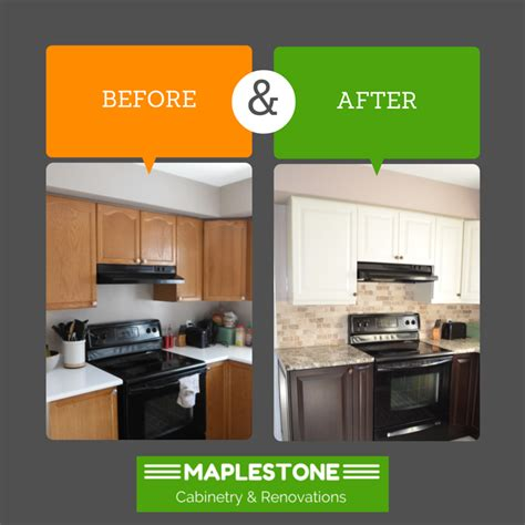 Kitchen Cabinet Refacing before amp after osgoode kitchen maplestone cabinetry