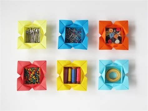 origami petal box tutorial for an origami petal box