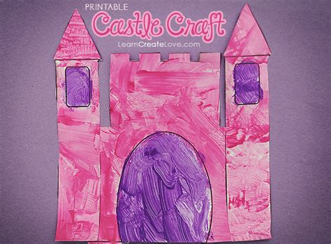 castle craft for printable castle craft