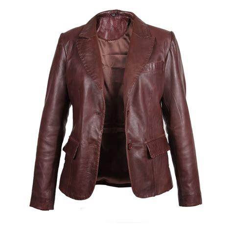 leather sleeve blazer womens leather blazer jackets caffection