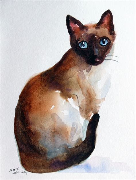siamese cat painting feline and artists wise artist