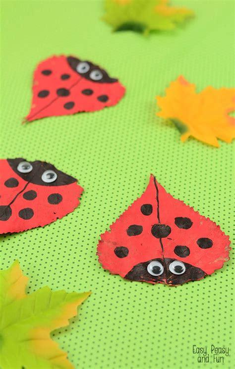 ladybug craft for leaf ladybug craft easy peasy and