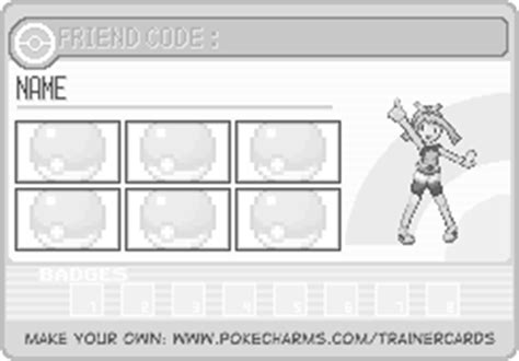 make trainer card trainer card maker pok 233 charms