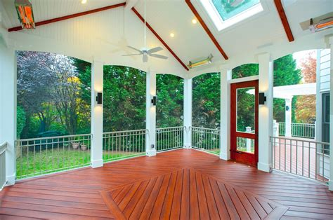 Building Screened Porch by Are Wood Railings Or Vinyl Railings Better For A Screened