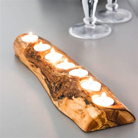 tea tree light holders rustic olive wood tea light holder by the rustic dish