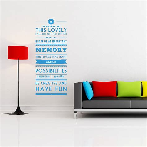 personalised wall sticker quotes personalised quote wall sticker by oakdene designs