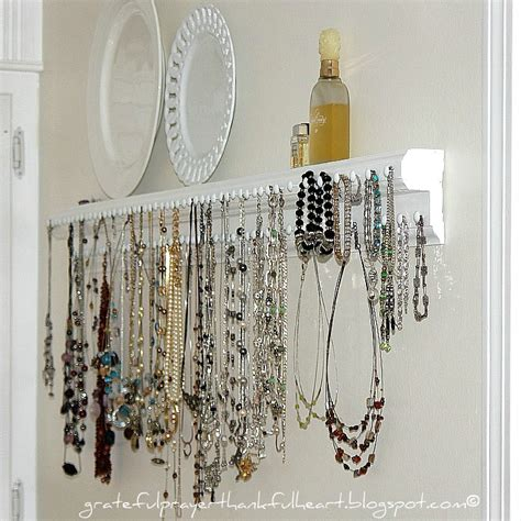 jewelry organizer with a grateful prayer and a thankful necklace