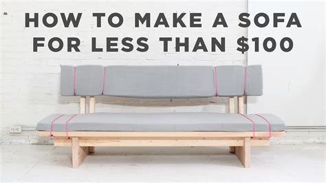 How To Make Sofa Bed Diy Sofa How To Make A No Sew Sofa For 100
