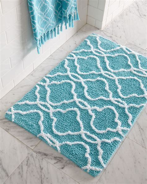 how to bathroom rugs tangiers bath rug everything turquoise