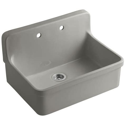 kitchen sink porcelain shop kohler gilford single basin drop in porcelain kitchen