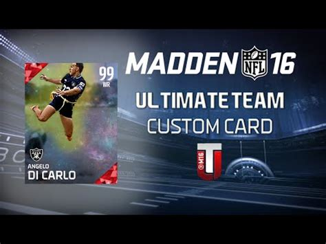 how to make your own ultimate team card how to make your own custom madden 16 ultimate team card
