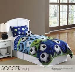soccer bedding hallmart soccer blue comforter set boys soccer