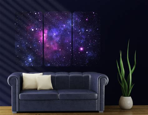 outer space wall mural wall mural galaxy triptych i outer space cosmos