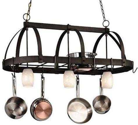 kitchen light pot rack kitchen light pot rack with lights lighting