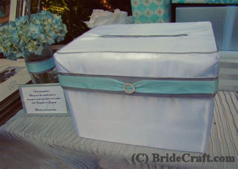 make your own card box craft a satin card box for your wedding