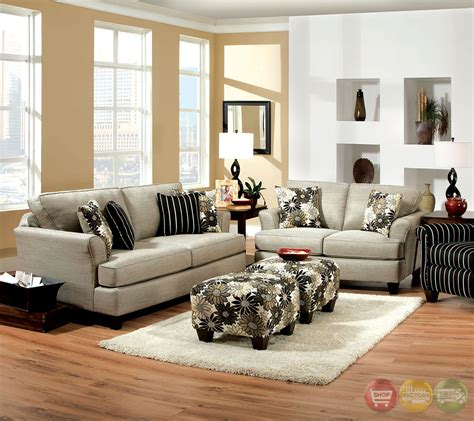 grey living room set cardiff contemporary light gray and floral fabric living