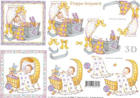 baby decoupage baby in cradle designs 3d decoupage sheet