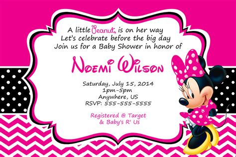 how to make minnie mouse invitation cards minnie mouse baby shower invitations free invitations