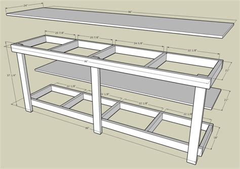 workbench plans garage workbench