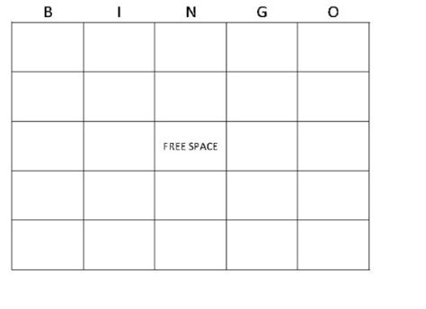 make bingo card the gallery for gt blank board cards