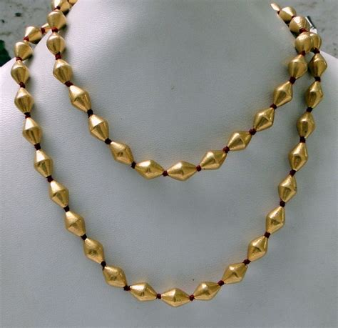 how to make gold beaded jewelry 22k gold necklace strand vintage antique