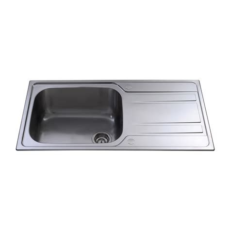 large stainless steel kitchen sinks ka71ss stainless steel large single bowl sink cda
