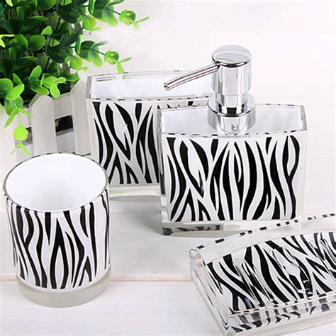 zebra bathroom accessories zebra bathroom set
